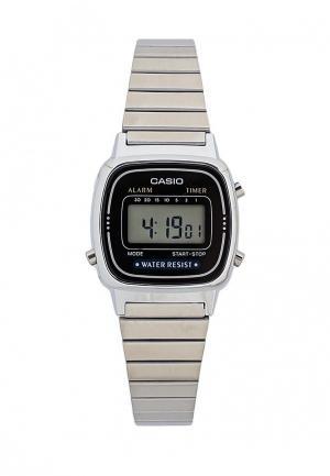Часы Casio Collection LA670WEA-1E. Цвет: серебряный