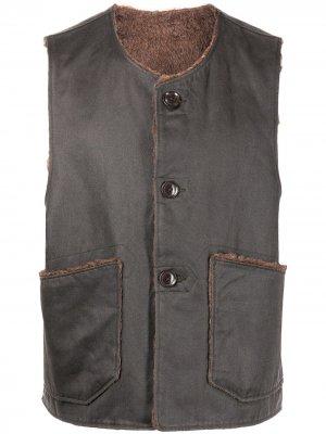 Жилет Over с контрастной отделкой Engineered Garments. Цвет: серый