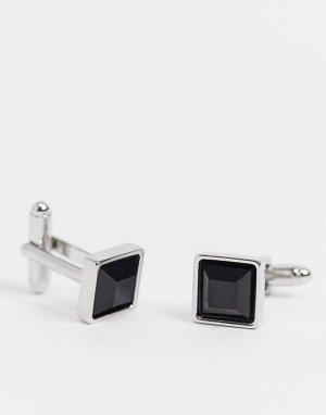 Серебристые запонки -Серебристый ASOS DESIGN