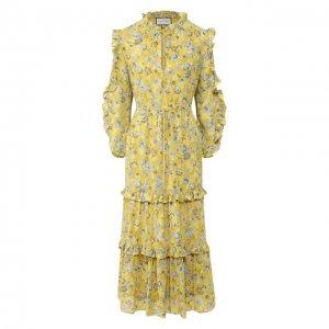 Платье-миди Alexis. Цвет: разноцветный