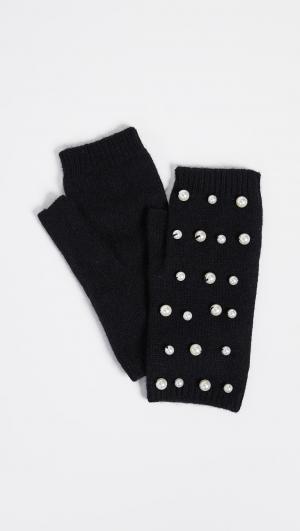 Imitation Pearl Fingerless Gloves Carolina Amato