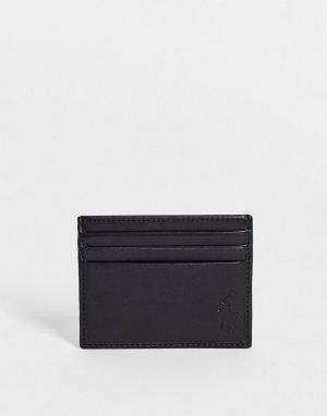 Черная кожаная визитница эксклюзивно для ASOS-Черный цвет Polo Ralph Lauren