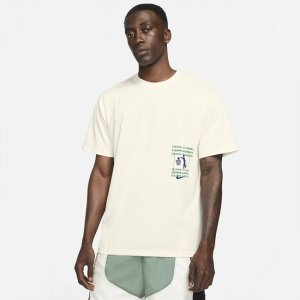 Мужская баскетбольная футболка - Белый Nike