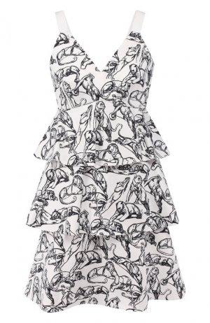 Хлопковое платье Chapurin. Цвет: белый