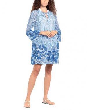 Пляжное платье AGOGOA. Цвет: лазурный