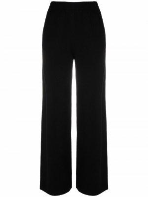 Широкие брюки тонкой вязки Allude. Цвет: черный