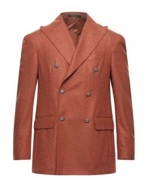 Пиджак PULITO. Цвет: ржаво-коричневый
