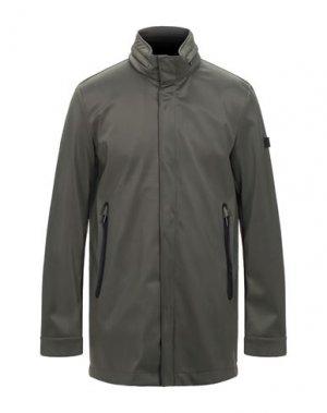 Легкое пальто HETREGO'. Цвет: зеленый-милитари