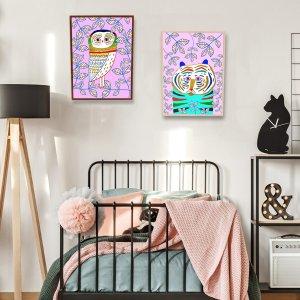 1шт Картины в интерьере с принтом животных без рамки SHEIN. Цвет: многоцветный