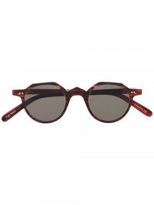 Солнцезащитные очки P21 Lesca. Цвет: коричневый