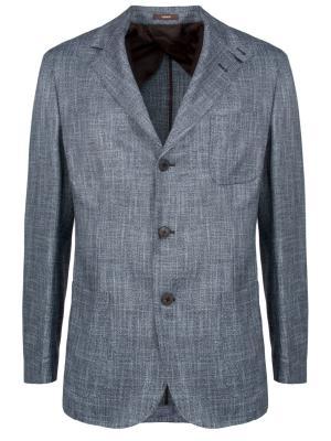 Фактурный пиджак HOMAND. Цвет: серый