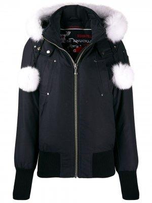 Куртка-бомбер Debbie Moose Knuckles. Цвет: синий