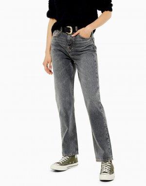 Серые джинсы прямого кроя -Серый Topshop