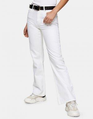 Белые расклешенные джинсы в стиле 90-х -Белый Topshop