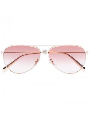 Солнцезащитные очки-авиаторы с эффектом градиент Celine Eyewear. Цвет: золотистый