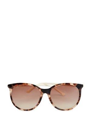 Очки Ilana из легкого ацетата с узором Havana JIMMY CHOO (sunglasses). Цвет: коричневый