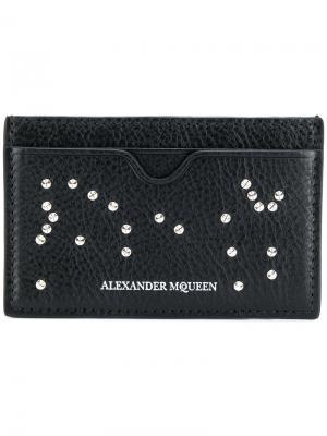 Визитница Studded Skull Alexander McQueen. Цвет: черный