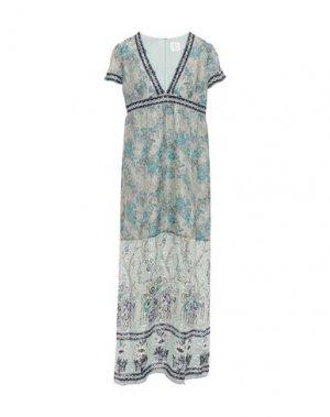 Длинное платье ANNA SUI. Цвет: светло-зеленый