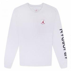 AJ4 Graphic Long Sleeve Crew Jordan. Цвет: белый