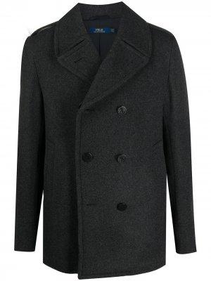 Бушлат Melton из переработанной шерсти Polo Ralph Lauren. Цвет: серый