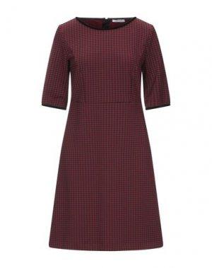 Короткое платье I BLUES. Цвет: кирпично-красный