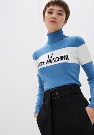 Водолазка Love Moschino. Цвет: голубой