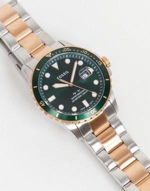 Мужские часы с комбинированным металлическим браслетом FS5743 -Многоцветный Fossil