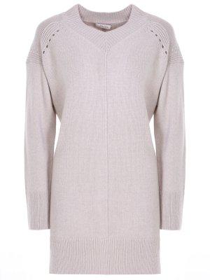 Пуловер шерстяной DOROTHEE SCHUMACHER. Цвет: бежевый