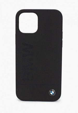 Чехол для iPhone BMW 12/12 Pro (6.1), Signature Liquid silicone Laser logo Black. Цвет: черный
