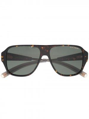 Солнцезащитные очки-авиаторы LSA-705 Dita Eyewear. Цвет: коричневый