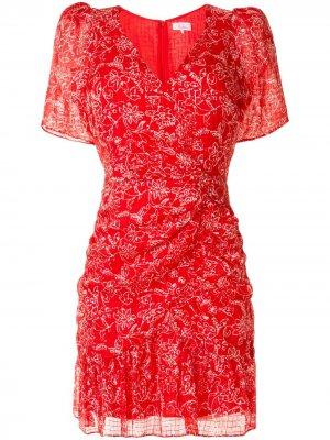 Платье Krislyn с цветочным принтом Parker. Цвет: красный