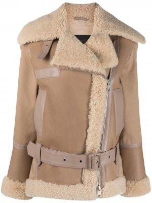Куртка-бомбер из коллаборации с Elizabeth Sulcer Mr & Mrs Italy. Цвет: нейтральные цвета