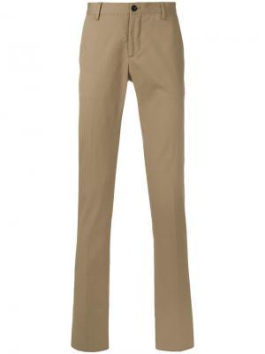 Прямые брюки чинос Etro. Цвет: коричневый
