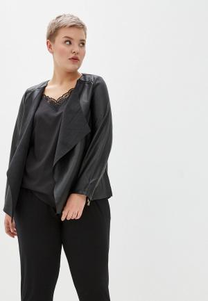 Куртка кожаная Dorothy Perkins Curve. Цвет: черный