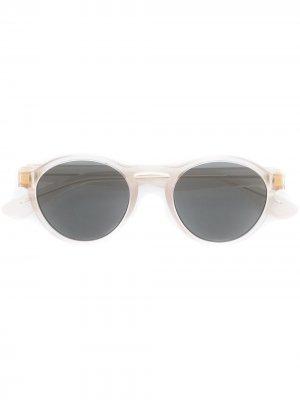 Солнцезащитные очки с круглой оправой Mykita. Цвет: нейтральные цвета