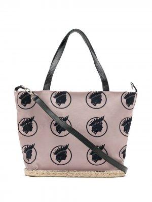 Printed tote bag Amir Slama. Цвет: нейтральные цвета