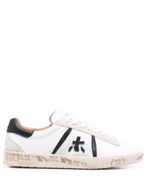 Logo-patch flatform sneakers Premiata. Цвет: белый