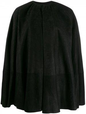 Пальто-кейп Rick Owens. Цвет: черный