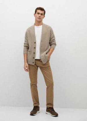Кардиган с карманами - Sudoku Mango. Цвет: песочный