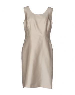 Платье до колена CLIPS. Цвет: бежевый