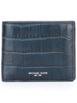 Фактурная визитница Michael Kors. Цвет: синий