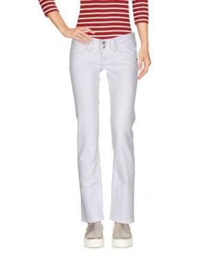 Джинсовые брюки-капри PEPE JEANS. Цвет: белый