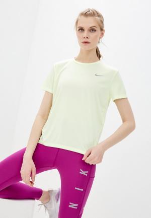 Лонгслив спортивный Nike W NK MILER TOP LS. Цвет: желтый
