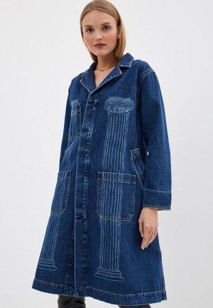 Куртка джинсовая Vivienne Westwood. Цвет: синий