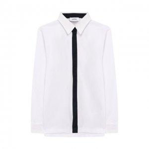 Хлопковая рубашка Aletta. Цвет: белый