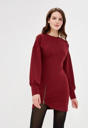 Платье Elle Land. Цвет: бордовый