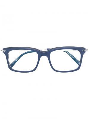 Очки в квадратной оправе Matsuda. Цвет: синий