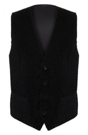 Хлопковый жилет Dolce & Gabbana. Цвет: чёрный