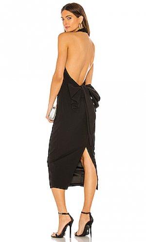 Платье миди jaden Bardot. Цвет: черный