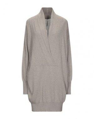 Короткое платье PIERANTONIO GASPARI. Цвет: голубиный серый